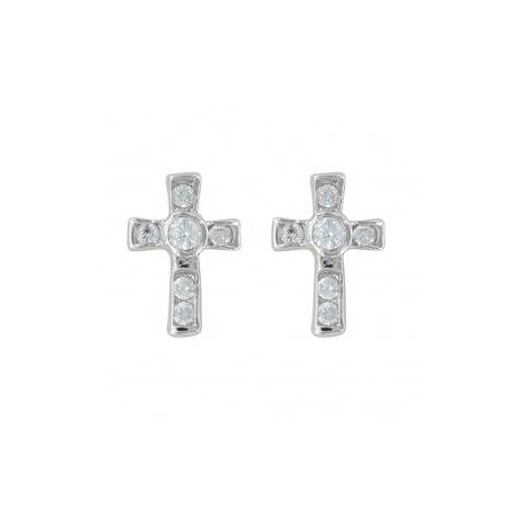 Montana Silversmiths A Mark Of Faith Cross Earrings