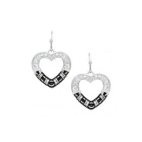 Montana Silversmiths Dazzling Barbed Wire Heart Earrings