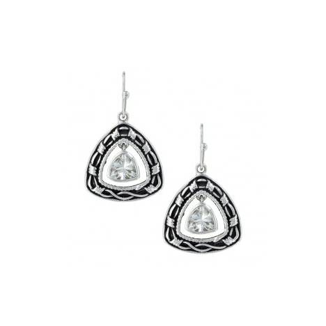 Montana Silversmiths Barbed Wire Trillion Earrings
