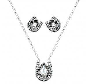 Montana Silversmiths Rider'S Brilliant Raindrop Jewelry Set