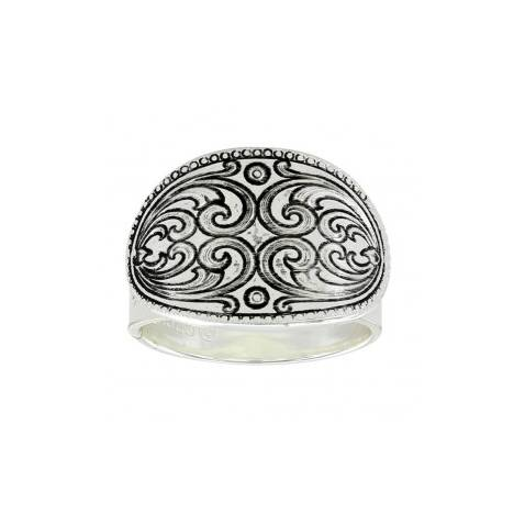 Montana Silversmiths Mirrored Heart Concho Ring