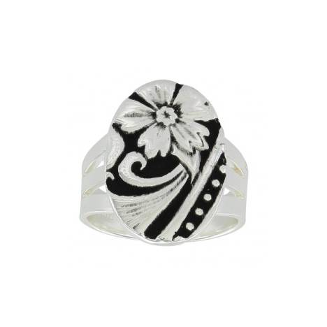 Montana Silversmiths Western Flower Ring