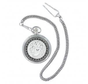 Montana Silversmiths New Traditions Stars And Barbed Wire Bailiwick Pocket Watch