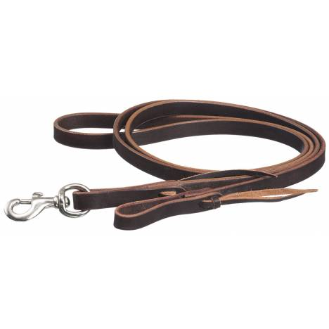 Tough 1 Latigo Double Stitched Roping Reins