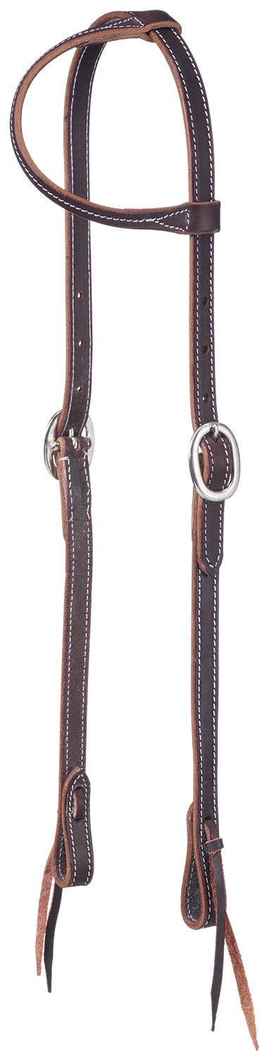 Tough 1 Latigo One Ear Tie End Headstall