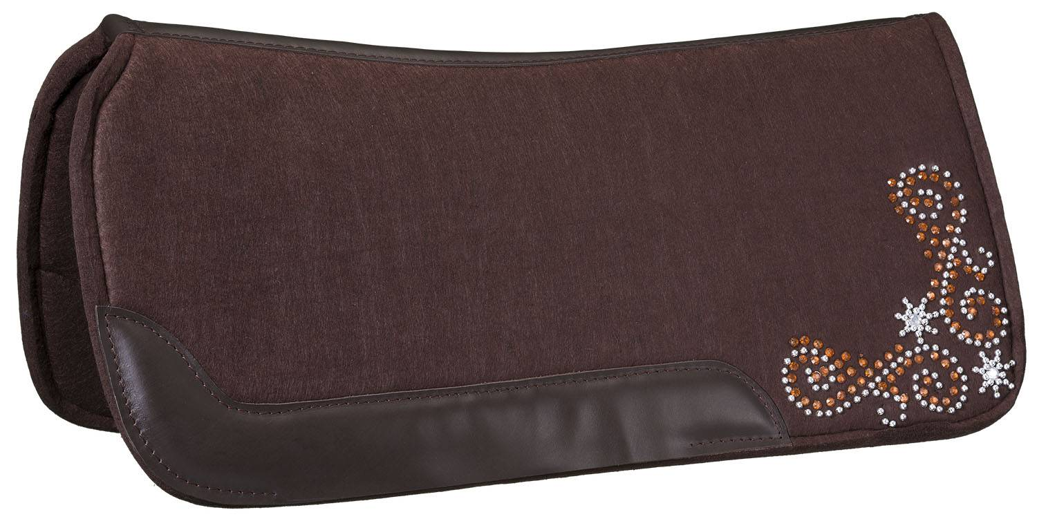 Tough 1 Contour Felt 3/4'' Saddle Pad - Crystal