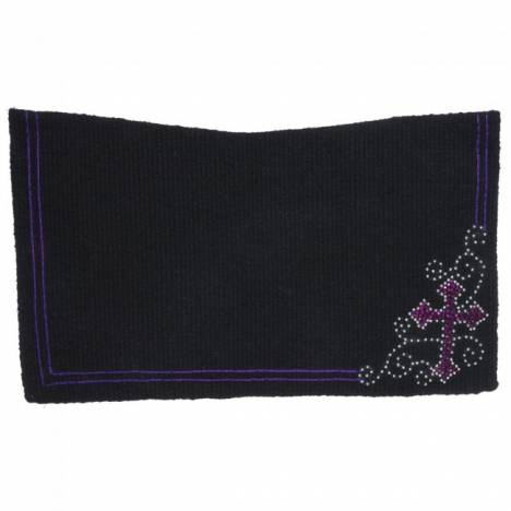 Tough 1 Crystal Cross Contour Wool Saddle Blanket