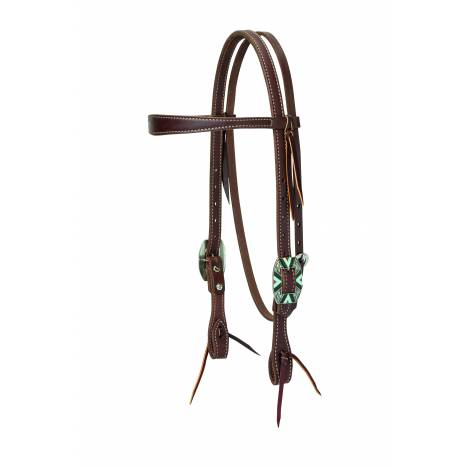 Weaver Working Cowboy Slim Browband Rope Edge Headstall