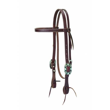 Weaver Working Cowboy Browband Rope Edge Headstall