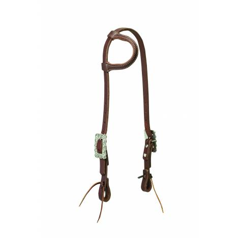 Weaver Working Cowboy Sliding Ear Scalloped Headstall