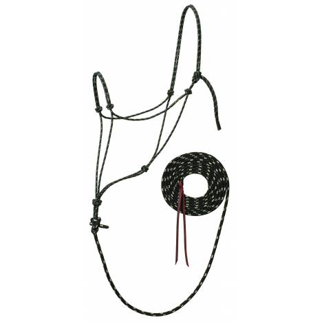 Weaver Slivertip Reflective Rope Halter With Lead