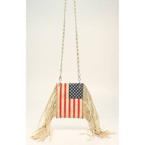 Nocona Americana American Flag Crossbody With Fringe