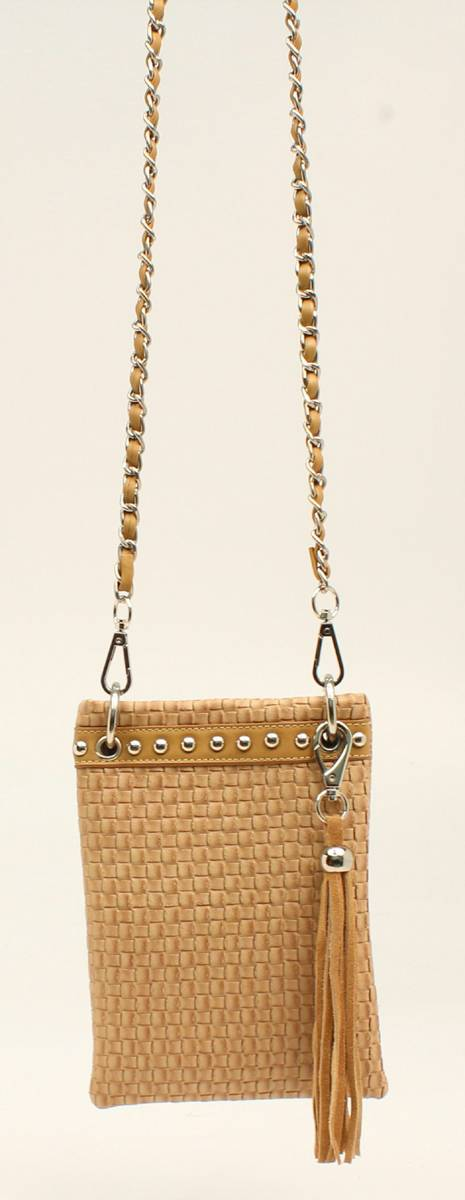 Nocona Annabelle Basketweave Bling And Tassels Crossbody