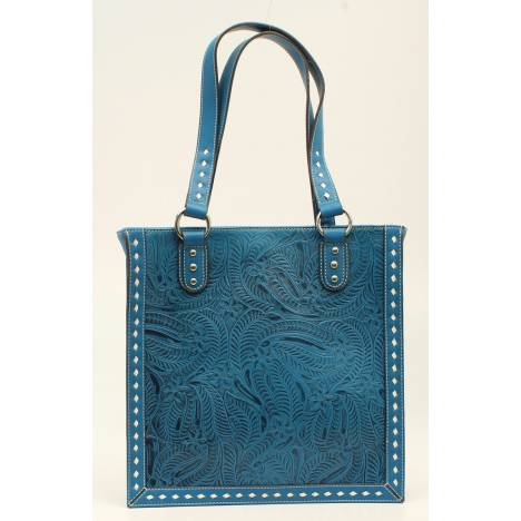 Nocona Nora Floral Embossed Stitched Tote