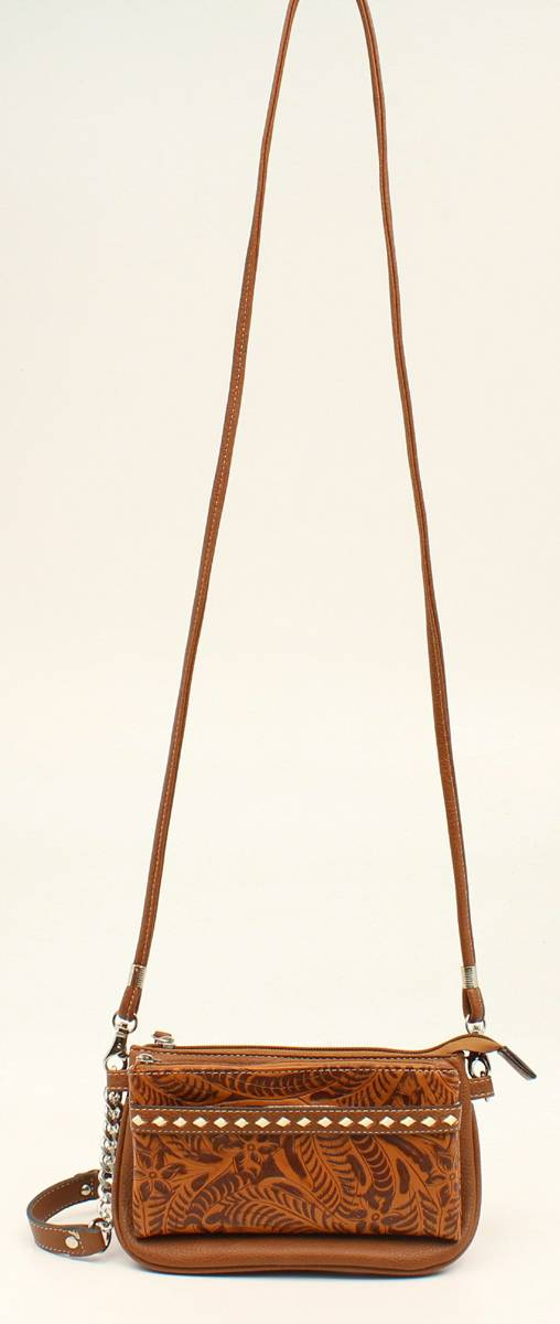 Nocona Nora Stitch And Embossed Crossbody Bag