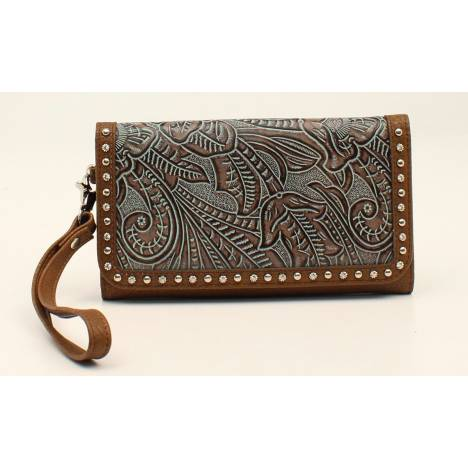Nocona Tessa Embossed Nailhead Clutch