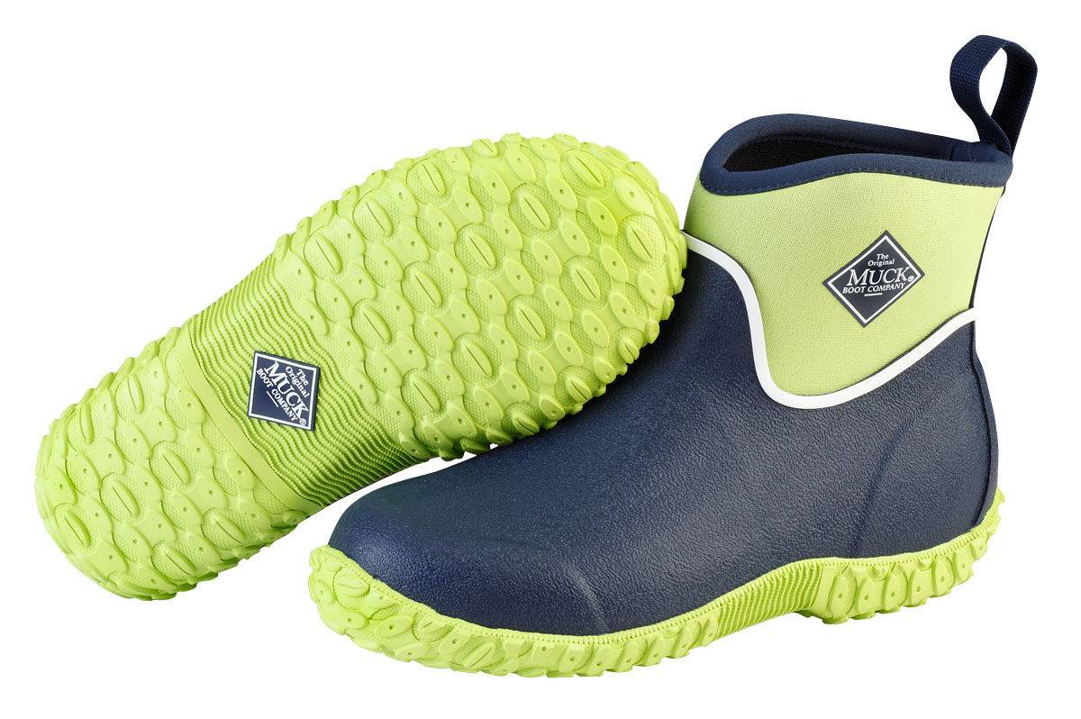 Muck Boots Muckster II Ankle Boots - Kids - Navy Lime