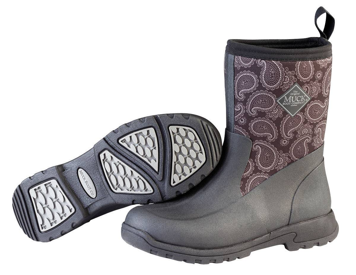 Muck Boots Breezy Ankle Garden Boots -Ladies - Black Bandana