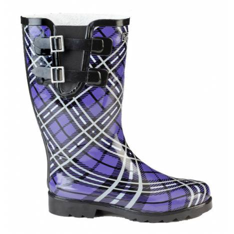 Muck Boots Cozy Classic Double Strap Puddleton - Ladies - Purple Plaid