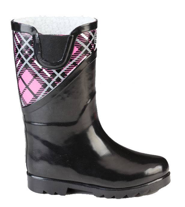 Muck Boots Cozy Classic Puddle+Z69:Z77ton-Kids - Pink Plaid