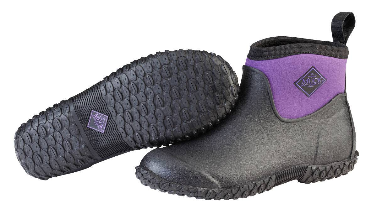 Muck Boots Muckster II Ankle Boots - Ladies - Black Purple