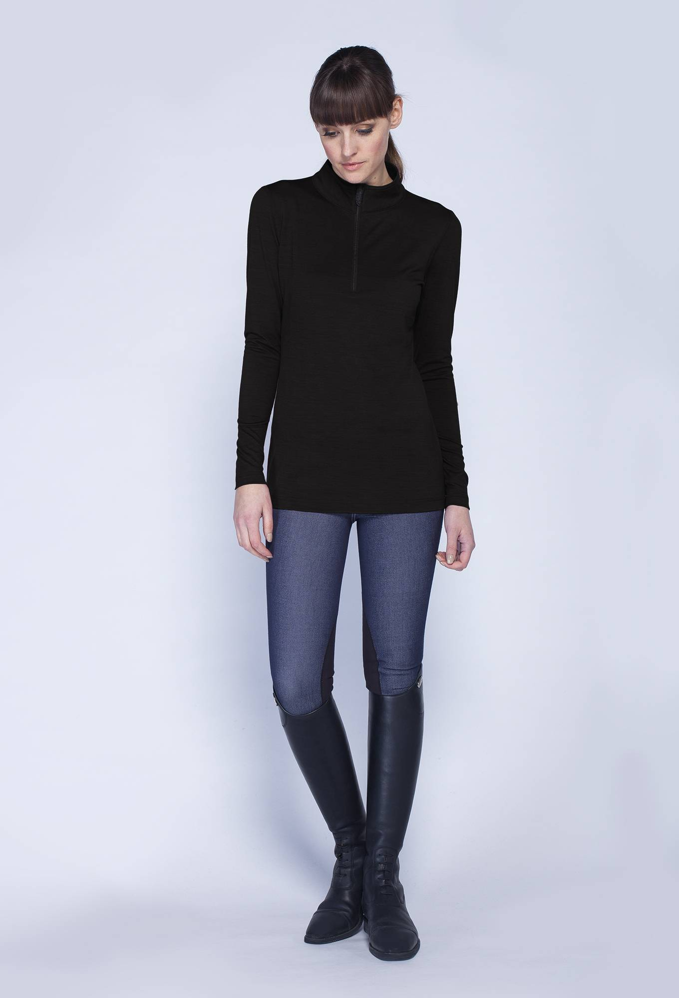 Asmar Merino Quarter Zip - Ladies
