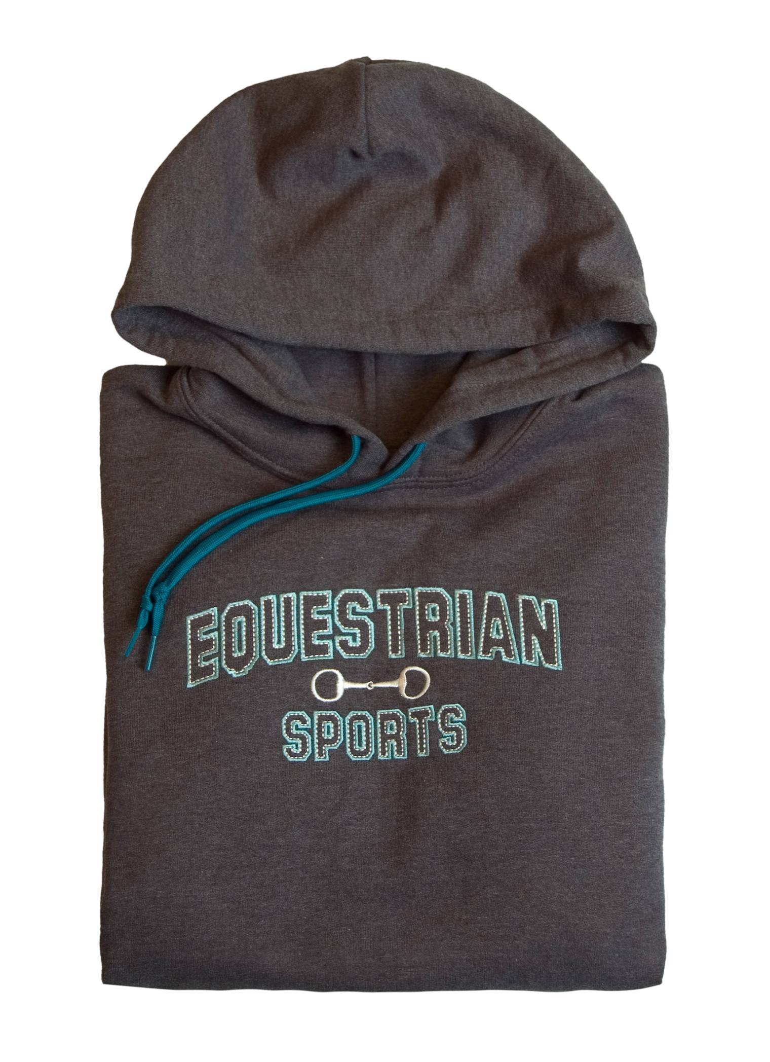 Stirrups Equestrian Sports Embriodered Hooded Sweatshirt - Ladies