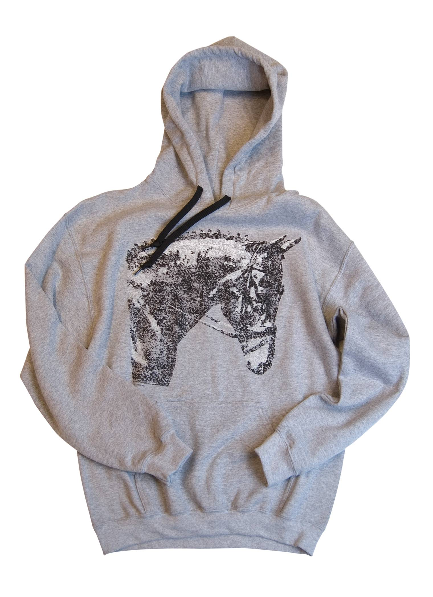 Stirrups Classic Horse Hooded Sweatshirt - Ladies