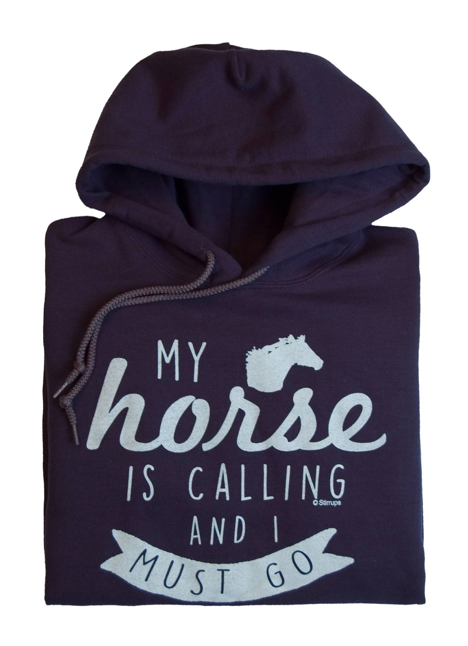 Stirrups My Horse Is Calling Hooded Sweatshirt - Ladies
