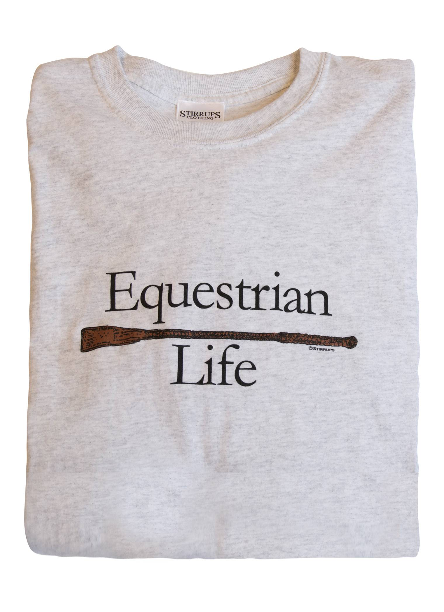 Stirrups Equestrian Life Cotton Long Sleeve Crewneck Tee - Ladies