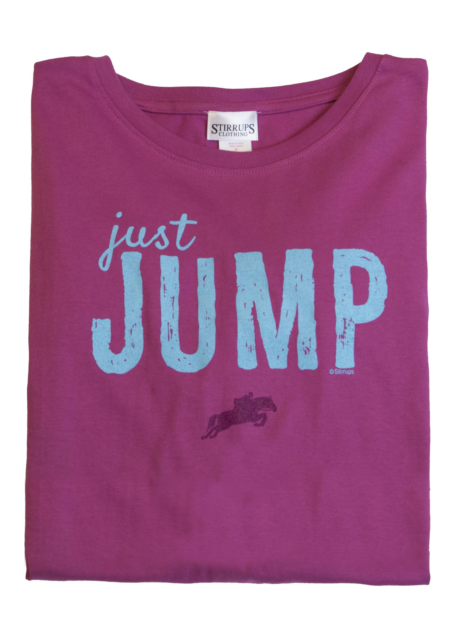 Stirrups Just Jump Long Sleeve Jersey Tee - Ladies