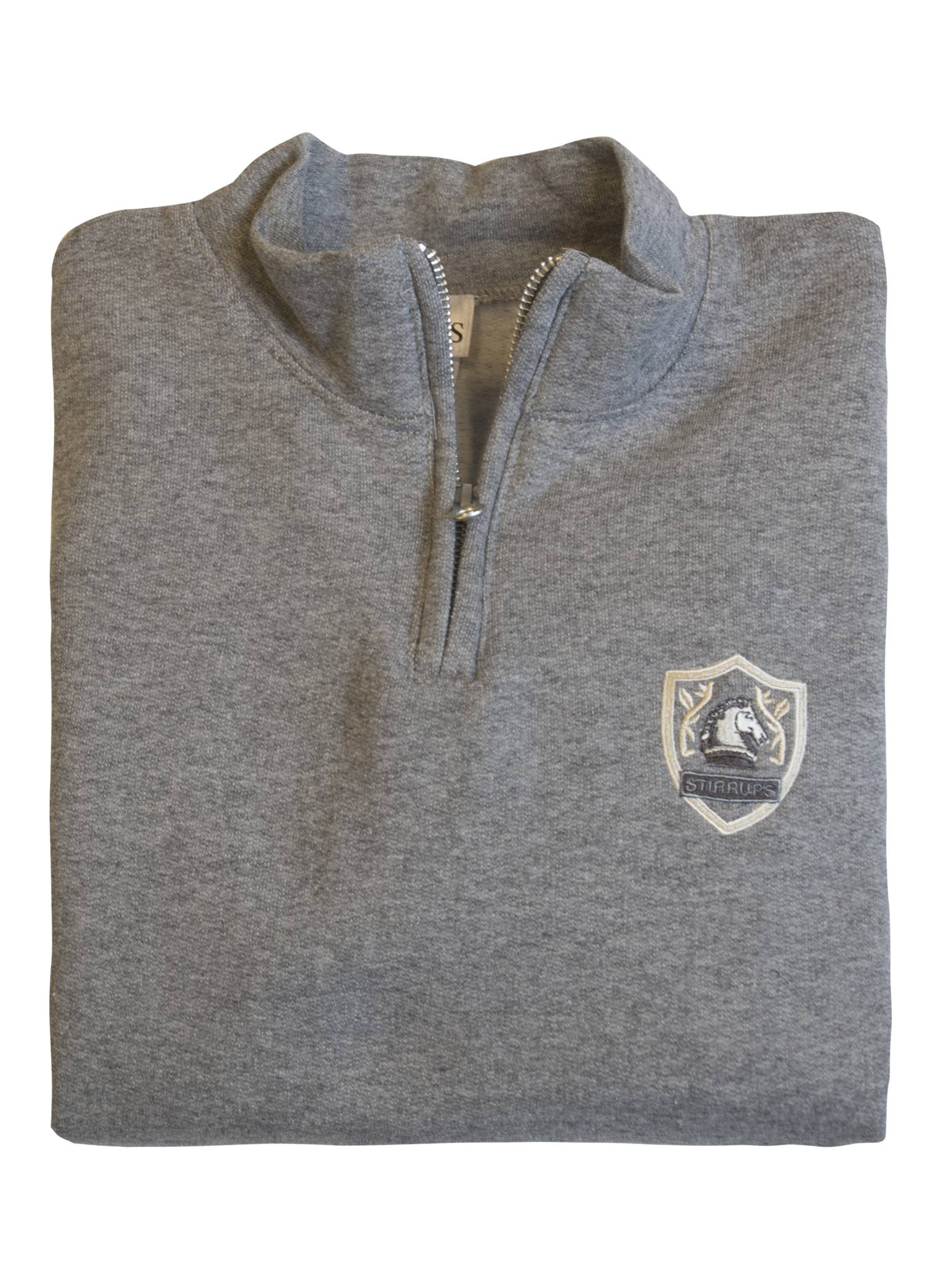 Stirrups 1/4 Zip Horse Head Shield Embroidered Sweatshirt - Kids