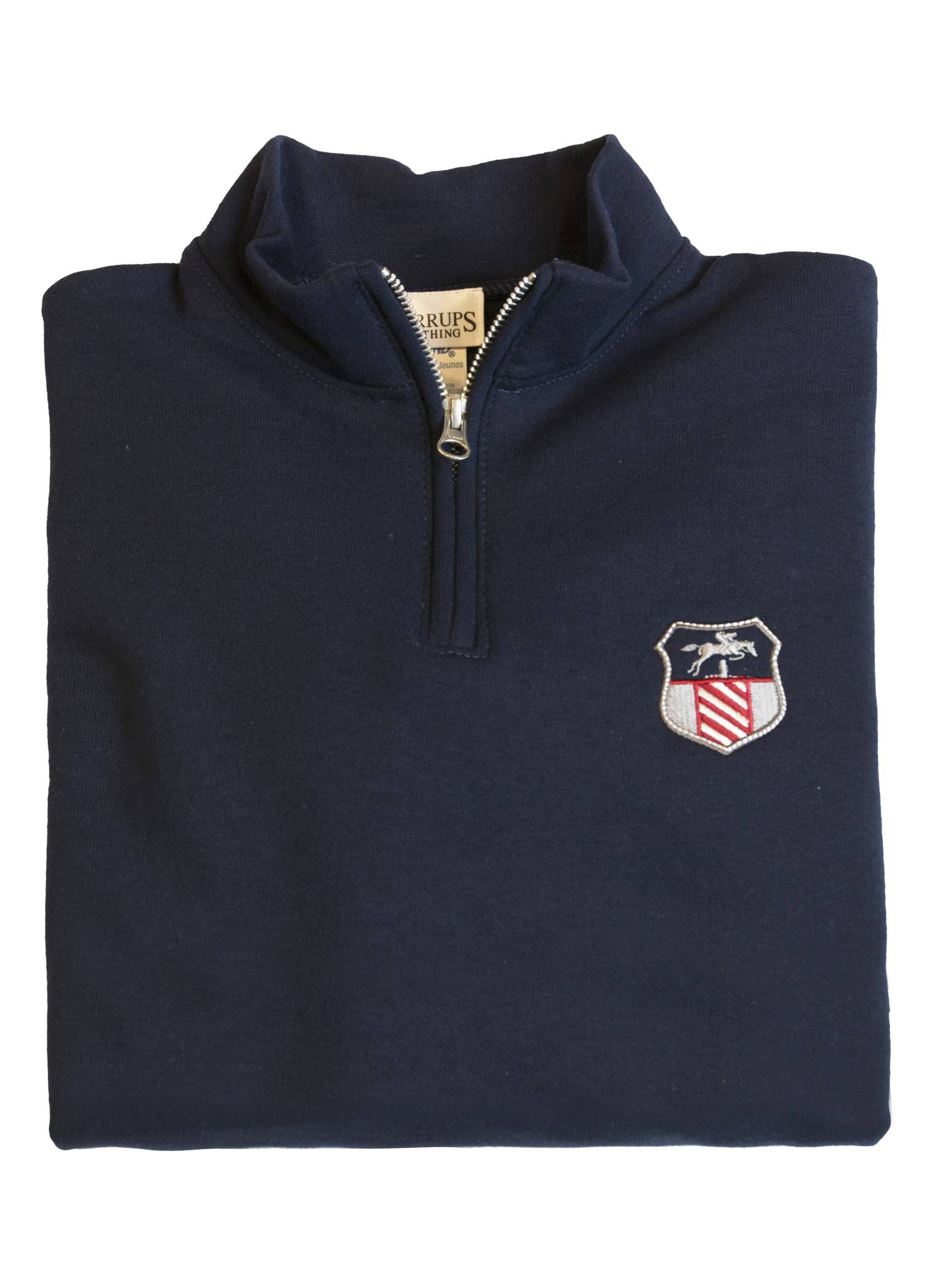 Stirrups 1/4 Zip Jumping Shield Embroidered Sweatshirt - Kids
