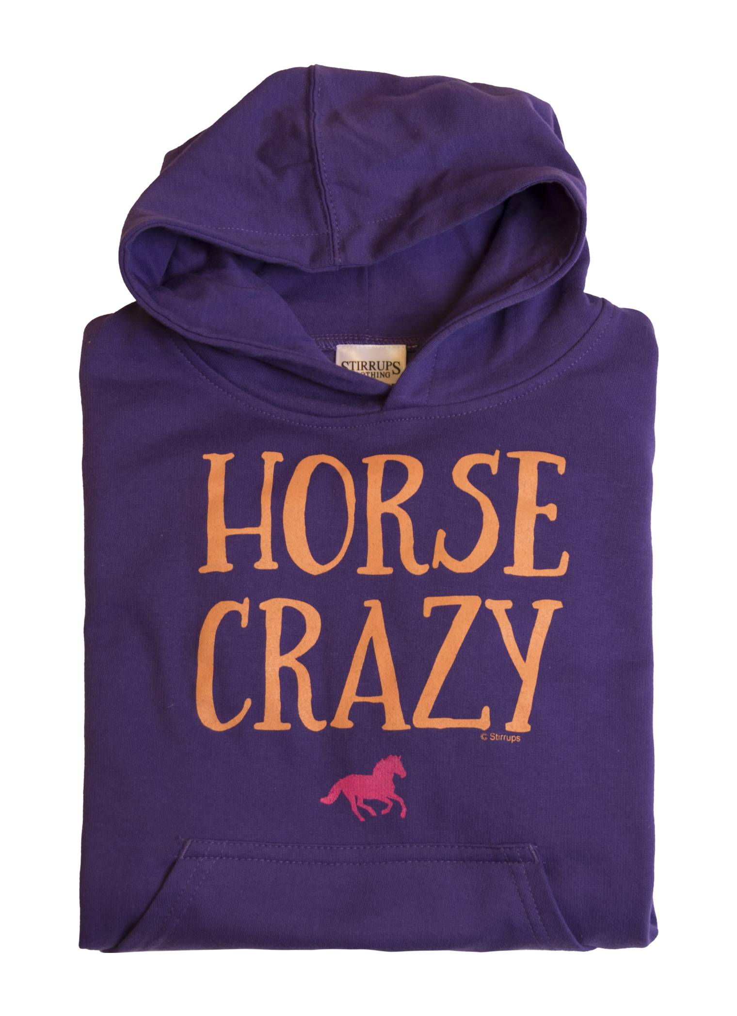 Stirrups Horse Crazy Fleece Hooded Sweatshirt - Kids