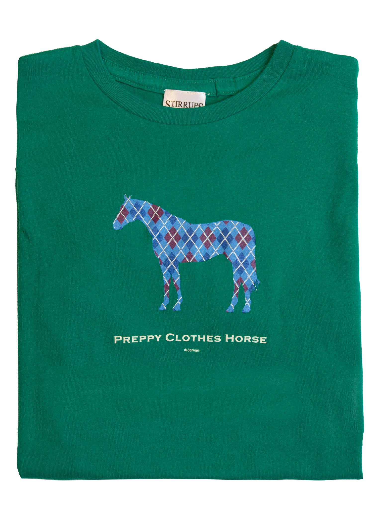 Stirrups Argyle Horse Long Sleeve Jersey Tee - Kids