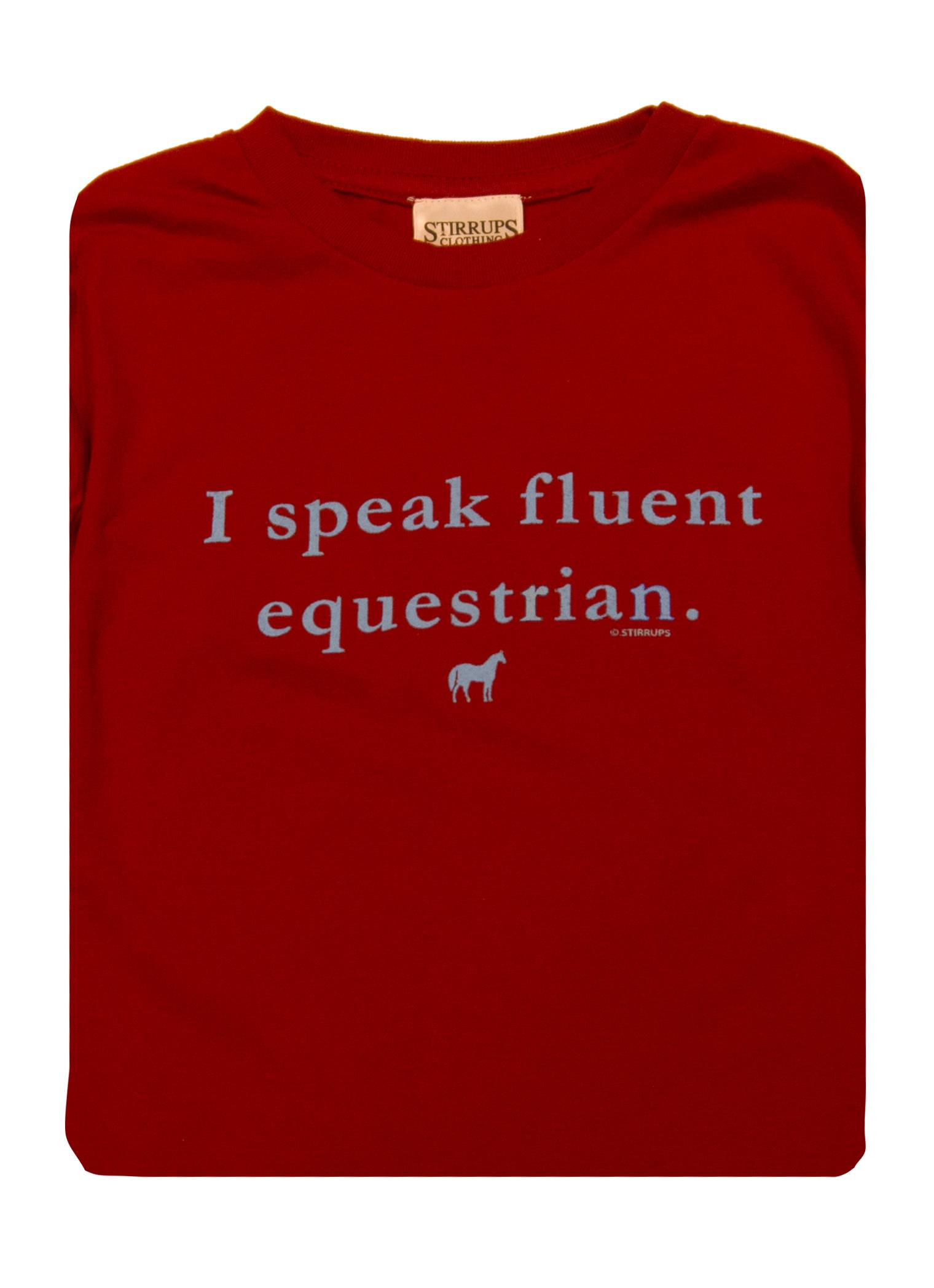 Stirrups I Speak Fluent Equestrian Long Sleeve Jersey Tee - Kids