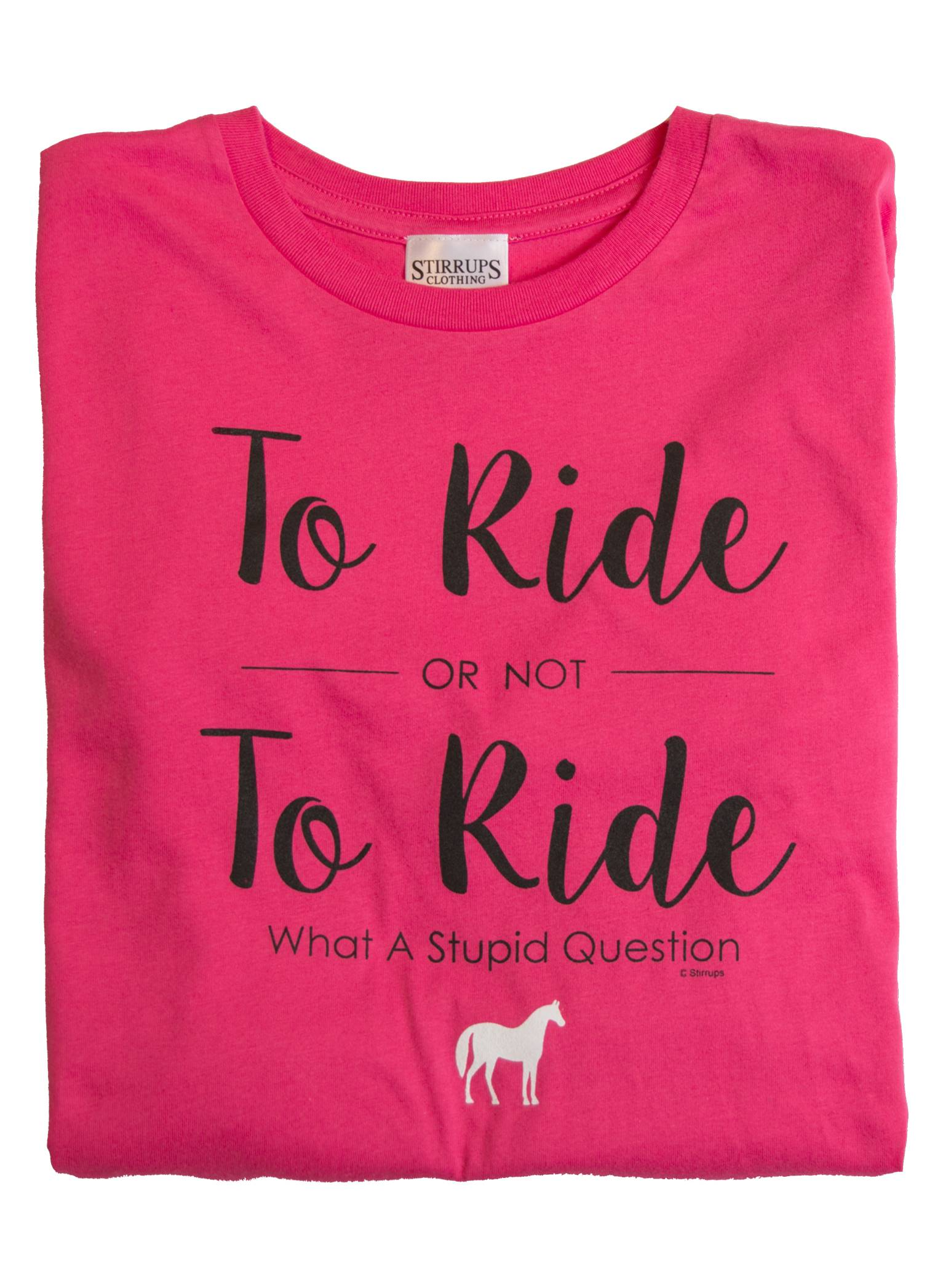 Stirrups To Ride Or Not To Ride Long Sleeve Jersey Tee - Kids