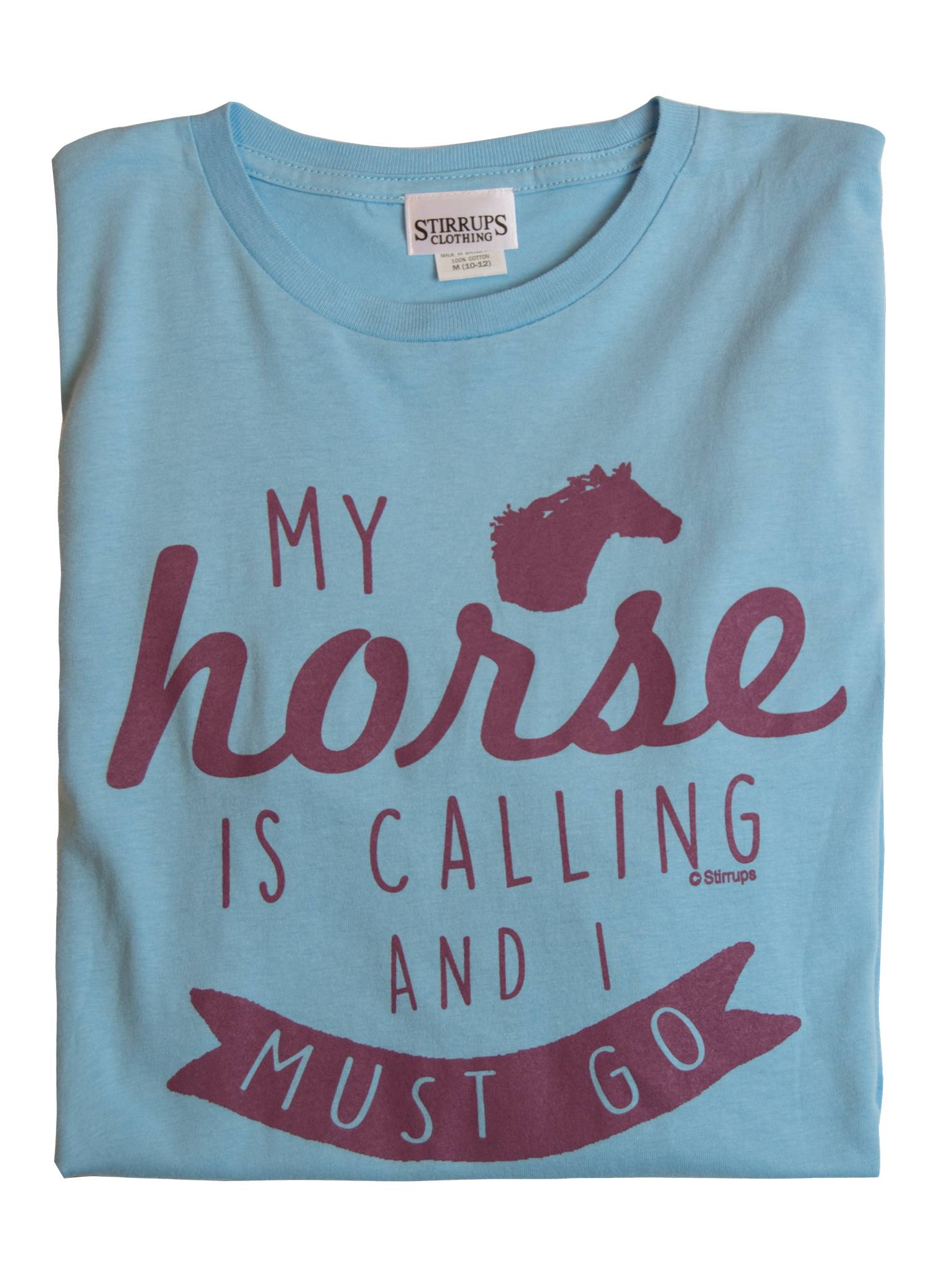Stirrups My Horse Is Calling Long Sleeve Jersey Tee - Kids