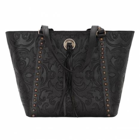 American West Baroque Zip Top Bucket Tote
