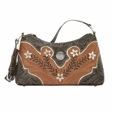 American West Desert Wildflower Zip-Top Shoulder Bag