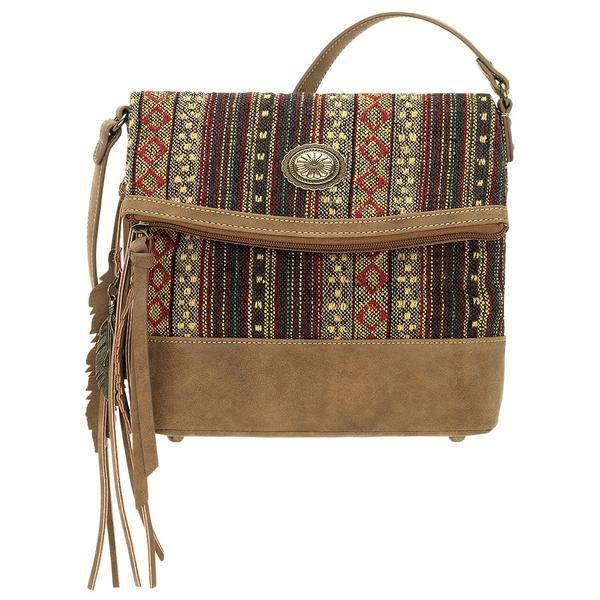 Bandana Serape Fold Over Crossbody- Ladies