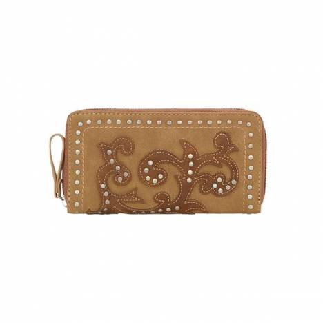 Bandana Shady Cove Zip Around Wallet-Ladies