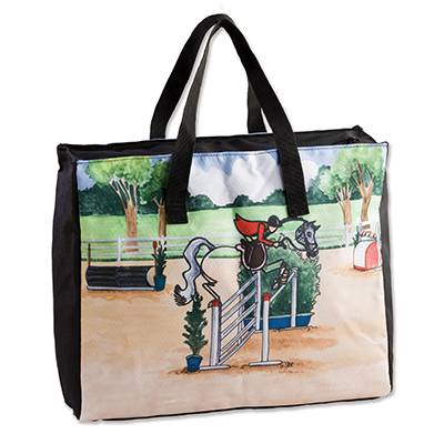 Whimsical Jumper Stick Horse Tote
