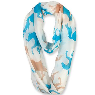 Galloping Horses Infinity Scarf - Ladies