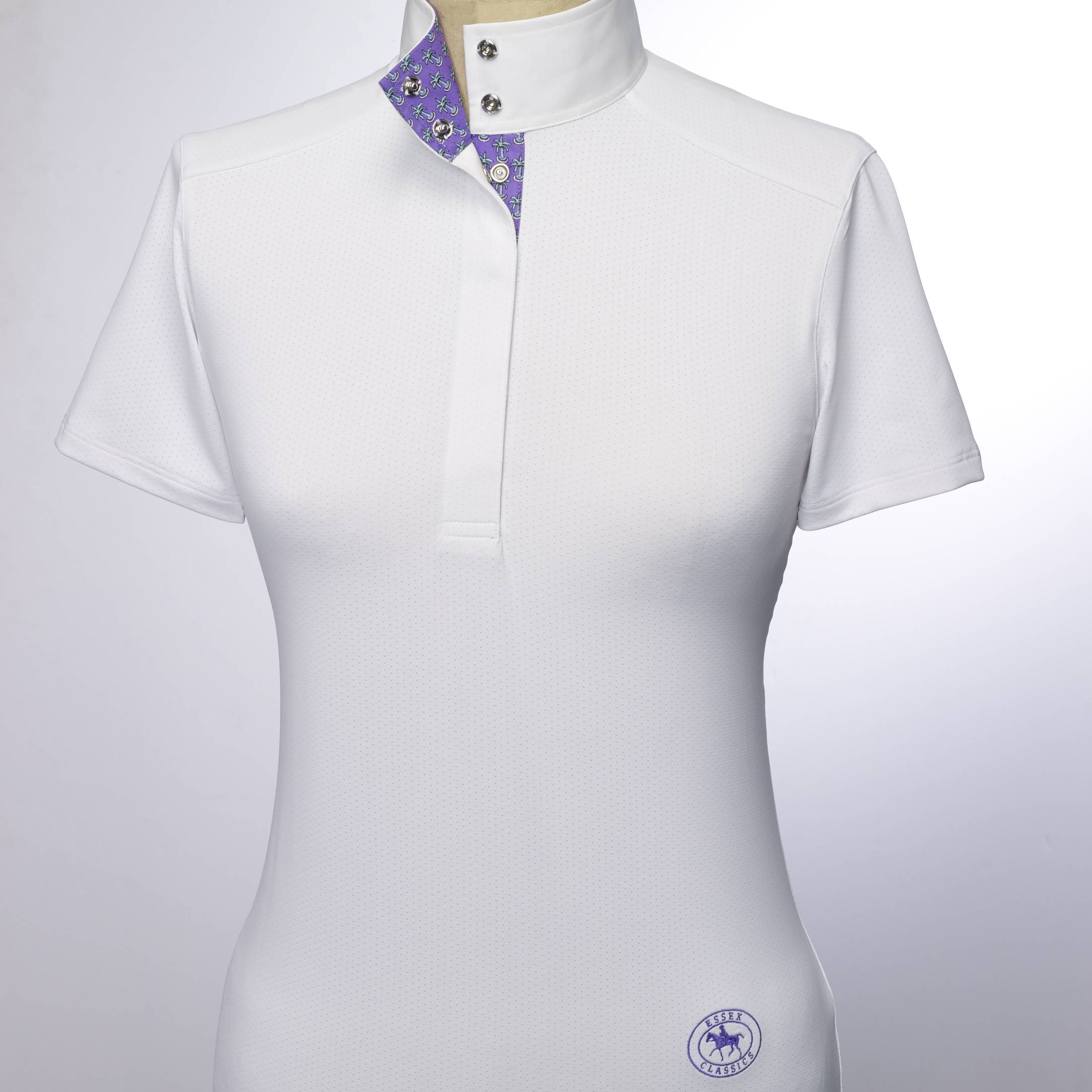 Essex Classics Palma Euro Short Sleeves Talent Yarn Shirt - Ladies