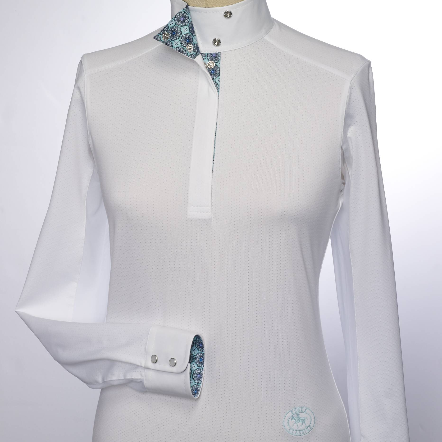 Essex Classics Flora Talent Yarn Wrap Collar Shirt - Ladies