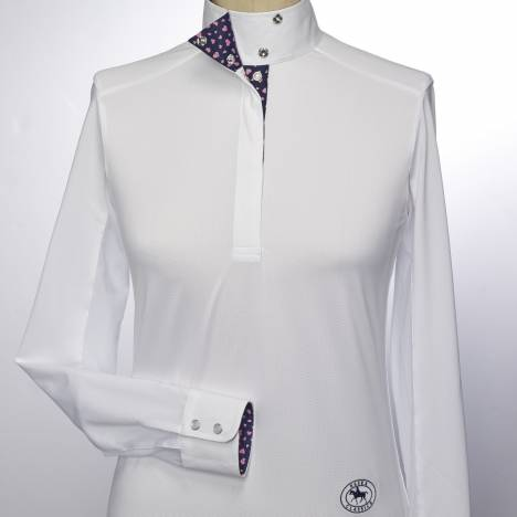 Essex Classics Valentina Long Sleeve Talent Yarn Wrap Collar Shirt - Ladies
