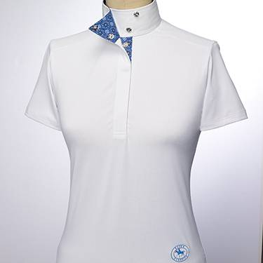 Essex Classics Flora Short Sleeves Talent Yarn Wrap Collar Shirt - Ladies