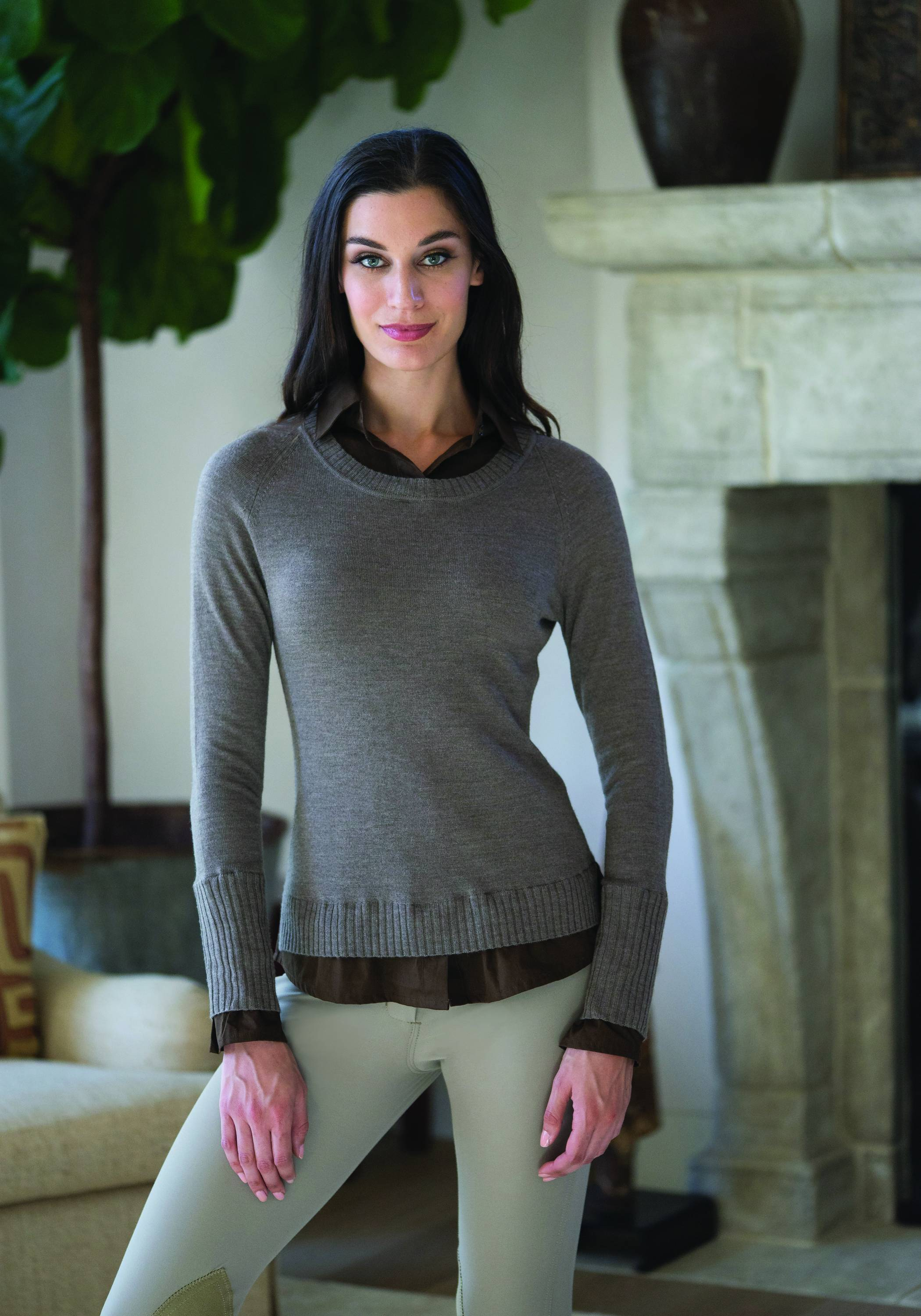 Goode Rider Layered Sweater- Ladies