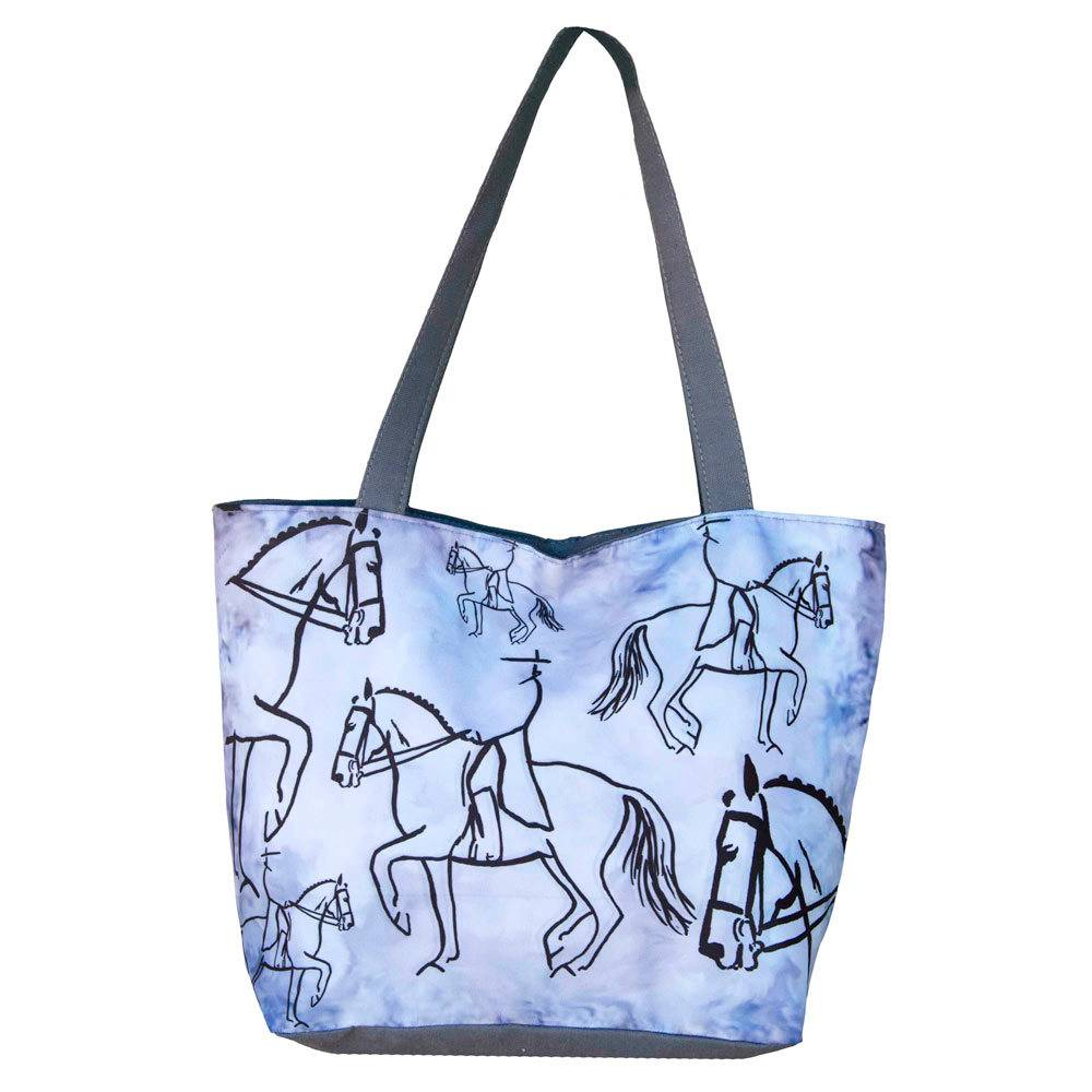 WOW Canvas Tote Bag - Dressage Rider